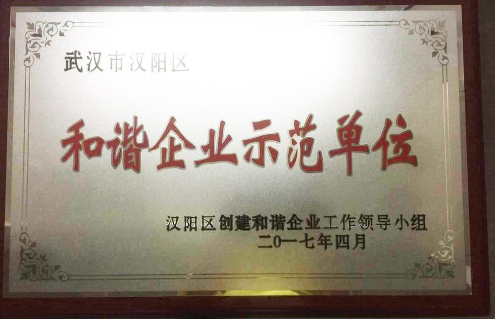"""湖北万泰荣获""""汉阳区和谐示范企业""""称号"""