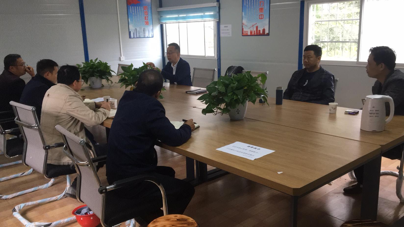 公司常务副总李建一行赴安顺百里城项目指导工作
